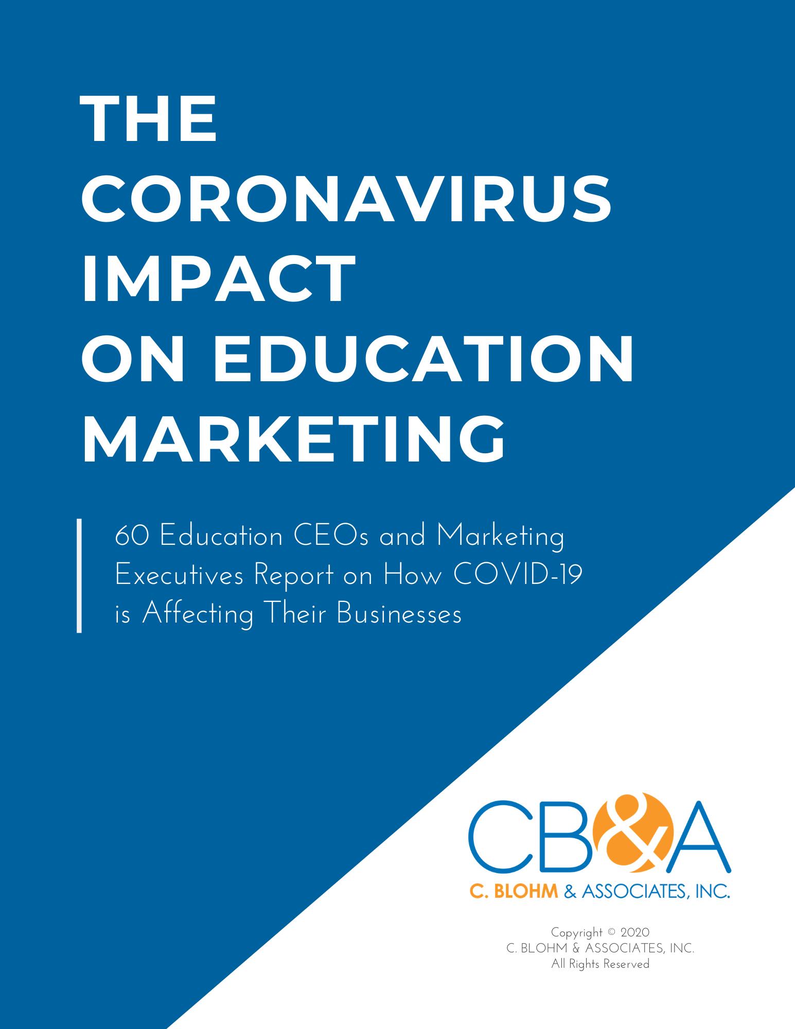 CB&A_Coronavirus Impact on Education Marketing_April 2020